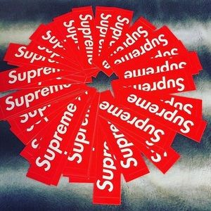 🎁4 BOGOS for 15$ SUPREME RED BOX LOGO STICKERS